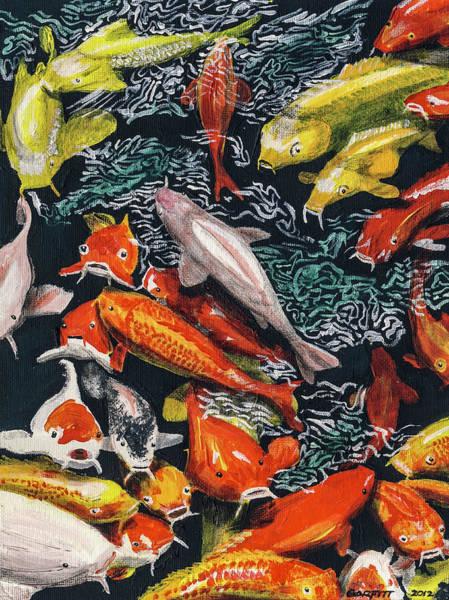 Kure Koi Pond Art Print