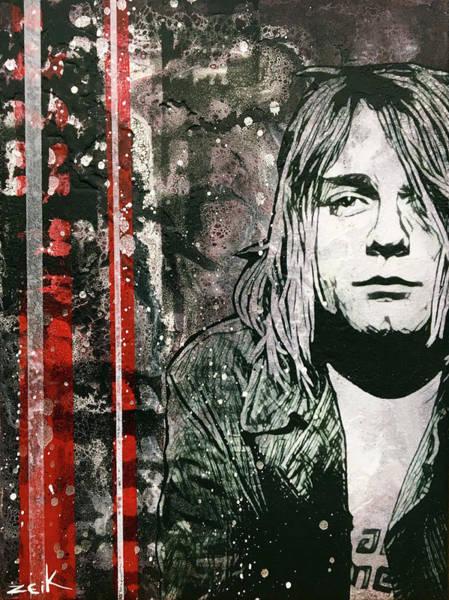 Pearl Jam Painting - Kurt by Bobby Zeik