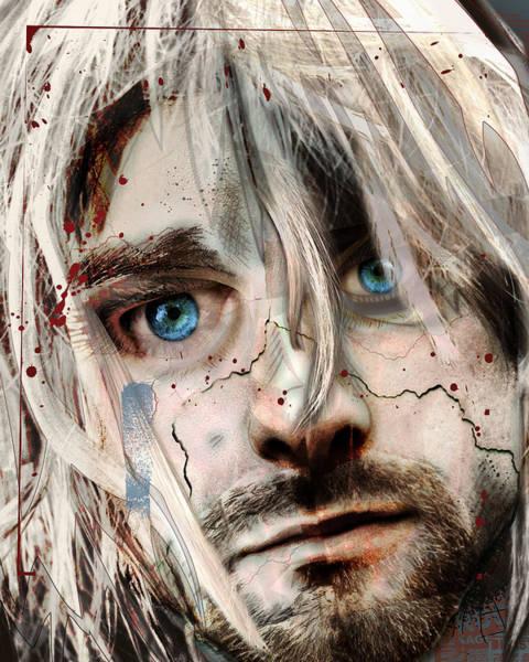 Nirvana Wall Art - Mixed Media - Kurt Cobain - Verse Chorus Hearse by Sam Kirk