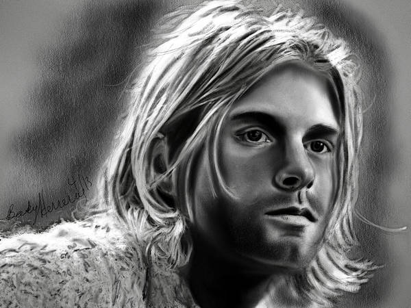 Drawing - Kurt Cobain- Nirvana by Becky Herrera