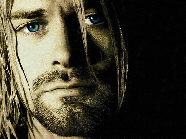 Painting - Kurt Cobain Nirvana by Tony Rubino