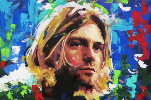 Foo Fighters Wall Art - Painting - Kurt Cobain by Richard Day
