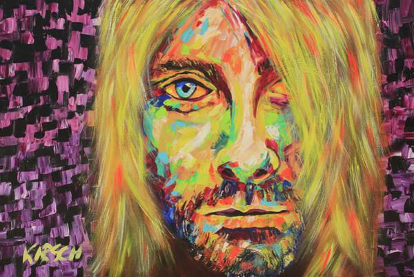 Dave Grohl Painting - Kurt Cobain by Robert Kirsch