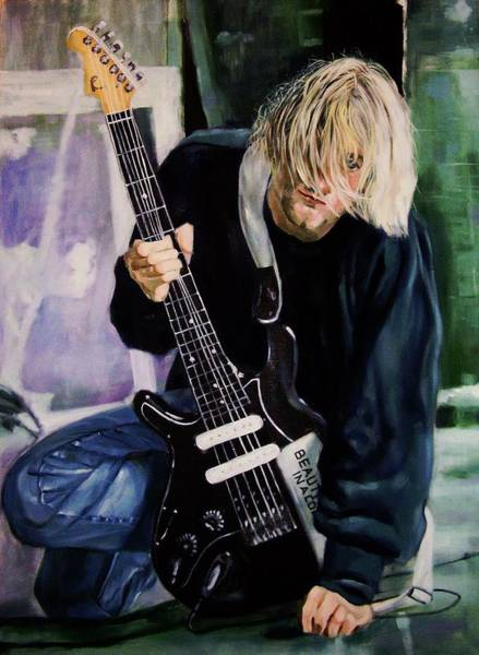 Frontman Wall Art - Painting - Kurt Cobain  by Rutuja Padwal