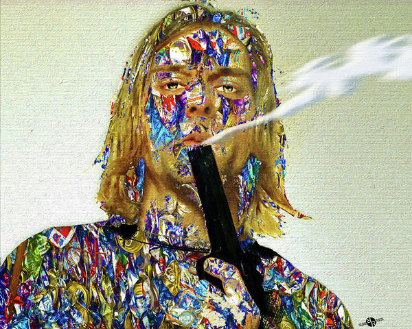 Mixed Media - Kurt Cobain by Tony Rubino