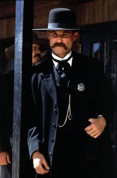 Wall Art - Photograph - Kurt Russell As Wyatt Earp Tombstone Arizona 1993-2015 by David Lee Guss