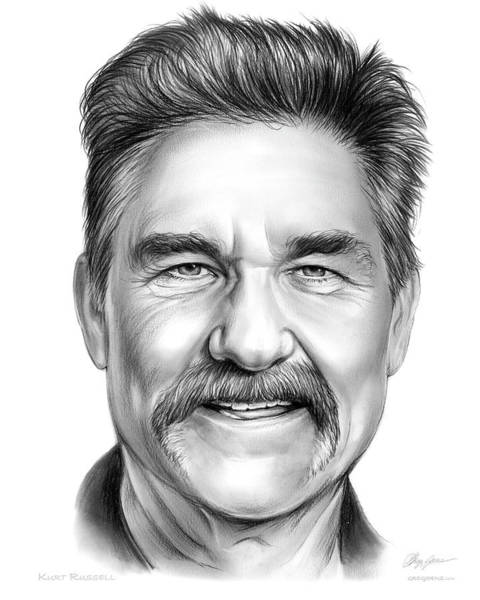 Movie Drawing - Kurt Russell by Greg Joens