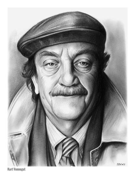 Novel Wall Art - Drawing - Kurt Vonnegut by Greg Joens
