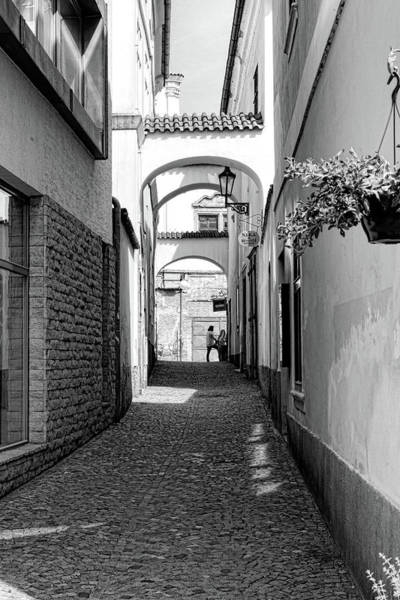 Photograph - Kutna Hora Alley Black And White by Sharon Popek