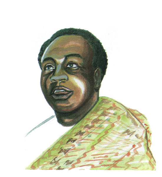Ghana Painting - Kwame Nkrumah by Emmanuel Baliyanga