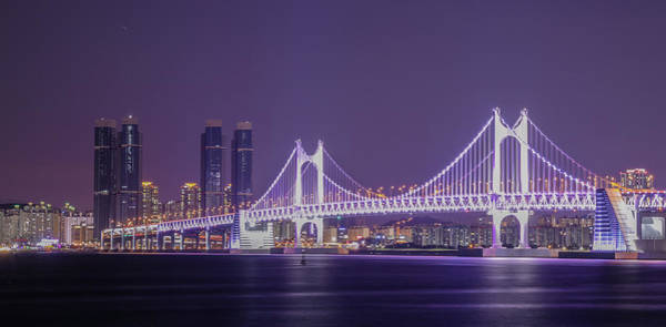 Wall Art - Photograph - Kwangan Bridge by Hyuntae Kim