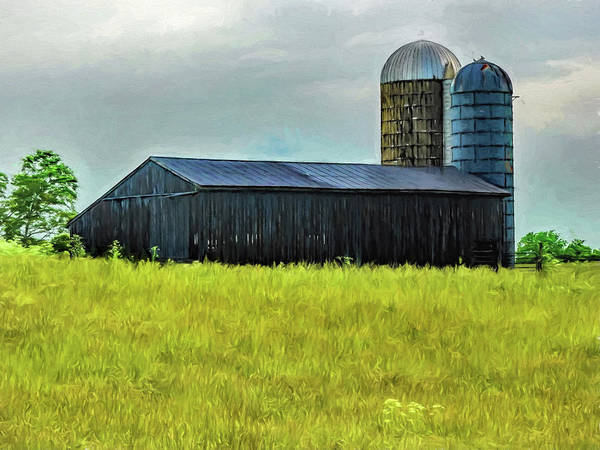 Hillside Wall Art - Digital Art - Ky Barn by Elijah Knight