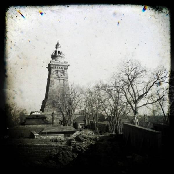 Monochrome Photograph - #kyffhäuser #monument #historicalplace by Mandy Tabatt