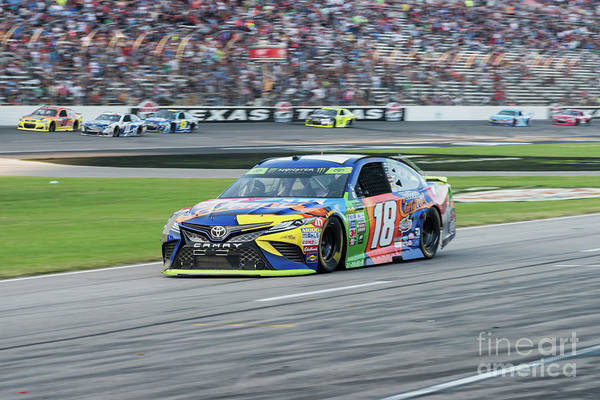Photograph - Kyle Busch Coming In For A Pit Stop At Texas Motor Speedway by Paul Quinn