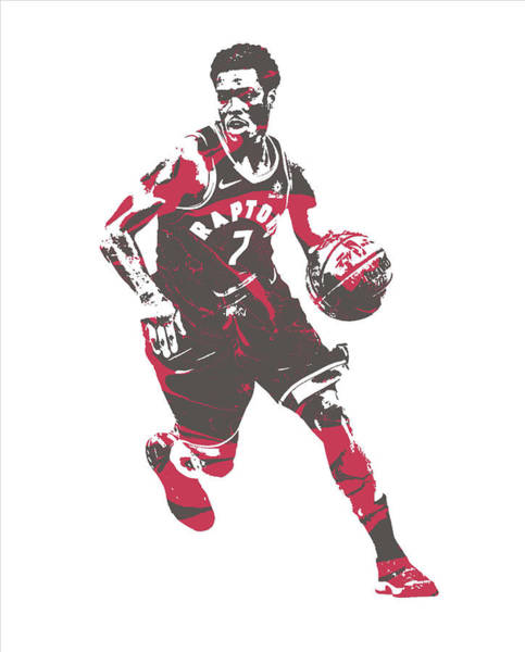 Wall Art - Mixed Media - Kyle Lowry Toronto Raptors Pixel Art 60 by Joe Hamilton