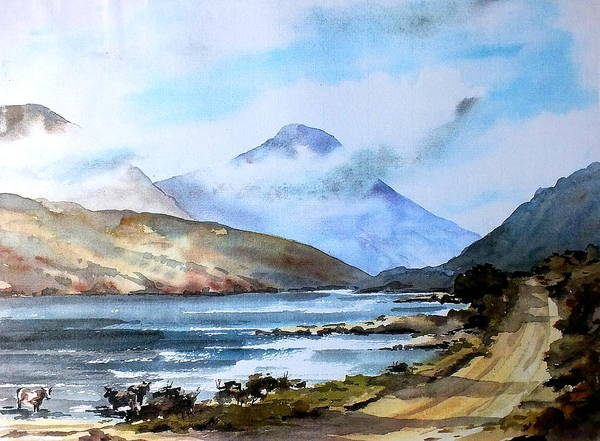 Painting - Kylemore Lough, Galway by Val Byrne
