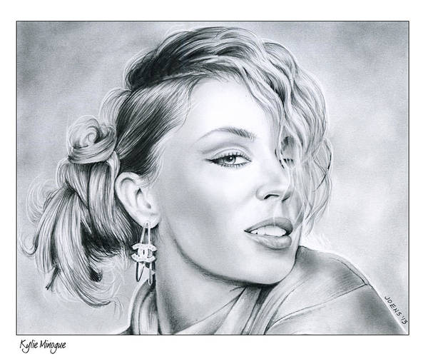 Actress Drawing - Kylie Minogue by Greg Joens