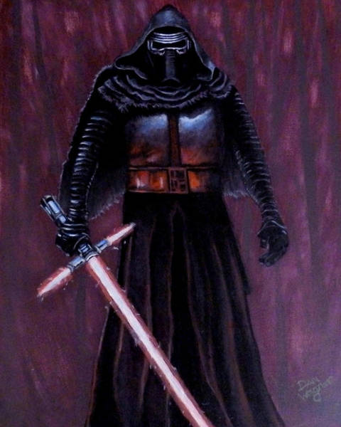 Painting - Kylo In Red by Dan Wagner