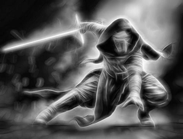 R2-d2 Digital Art - Kylo Ren Nothing Will Stand In Our Way by Scott Campbell