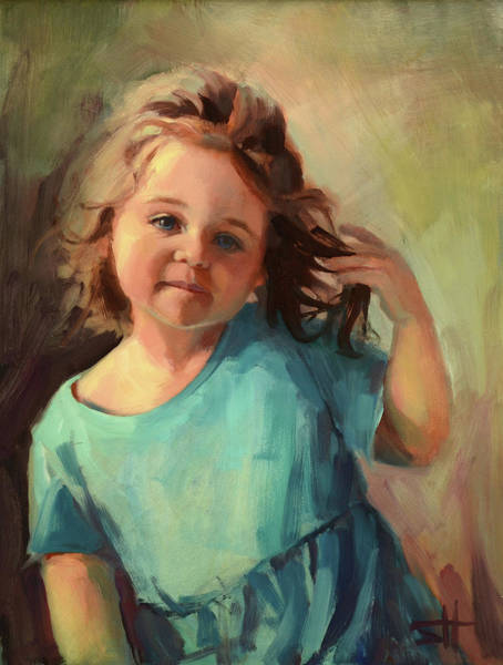 Blue Hair Wall Art - Painting - Kymberlynn by Steve Henderson