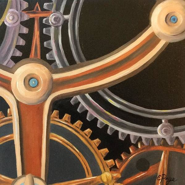 Painting - Kym's Clockwork by Emily Page