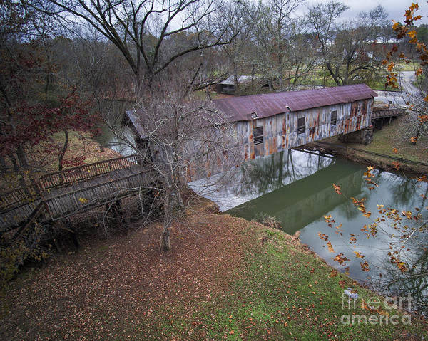 Childersburg Photograph - Kymulga Covered Bridge Aerial 1 by Ken Johnson