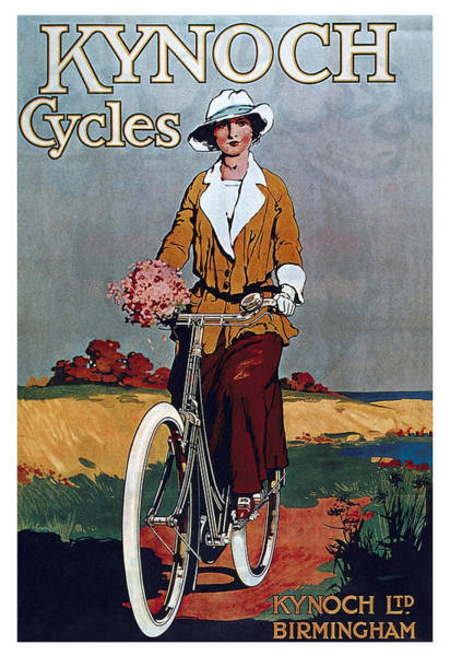 Hat Mixed Media - Kynoch Cycles - Bicycle - Vintage Advertising Poster by Studio Grafiikka