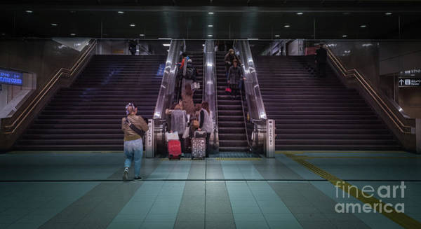 Photograph - Kyoto Metro Escalator, Japan by Perry Rodriguez