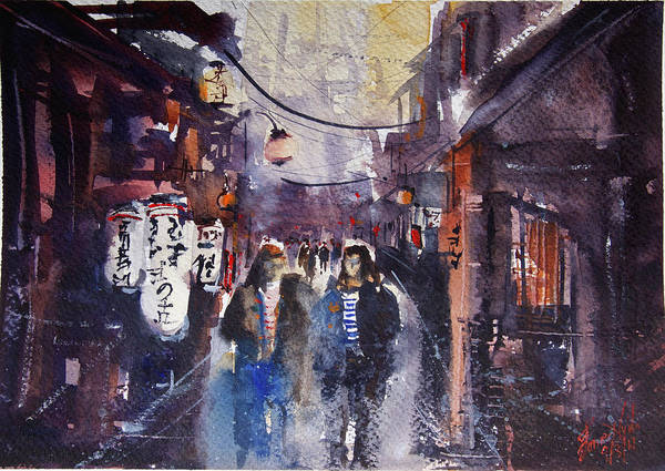 Wall Art - Painting - Kyoto Musings by James Nyika