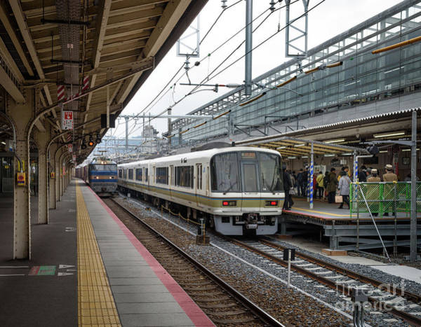 Art Print featuring the photograph Kyoto To Osaka Train Station, Japan by Perry Rodriguez