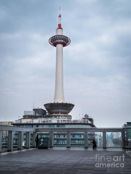 Art Print featuring the photograph  Kyoto Tower, Japan by Perry Rodriguez