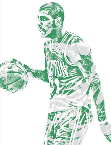 Wall Art - Mixed Media - Kyrie Irving Boston Celtics Pixel Art 40 by Joe Hamilton