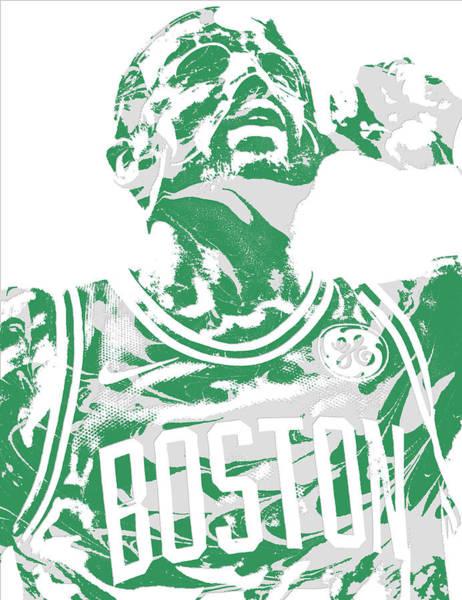 Celtic Mixed Media - Kyrie Irving Boston Celtics Pixel Art 41 by Joe Hamilton