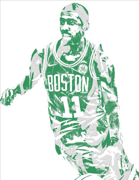 Nba Mixed Media - Kyrie Irving Boston Celtics Pixel Art 6 by Joe Hamilton