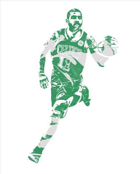 Wall Art - Mixed Media - Kyrie Irving Boston Celtics Pixel Art 60 by Joe Hamilton