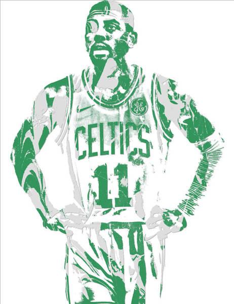 Celtic Mixed Media - Kyrie Irving Boston Celtics Pixel Art 8 by Joe Hamilton