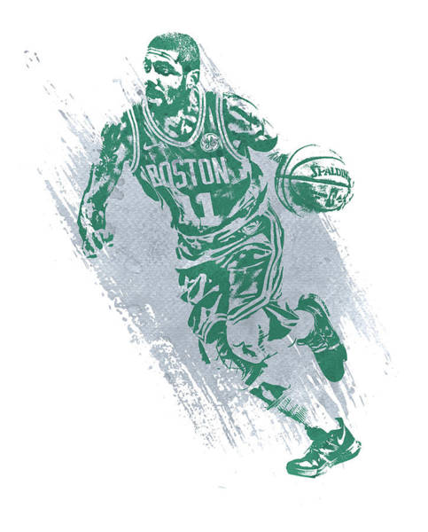 Wall Art - Mixed Media - Kyrie Irving Boston Celtics Water Color Art 2 by Joe Hamilton
