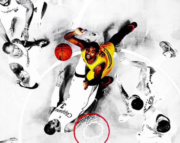 Wall Art - Mixed Media - Kyrie Irving by Brian Reaves