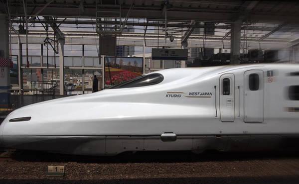 Wall Art - Photograph - Kyushu Bullet Train Locomotive by Daniel Hagerman