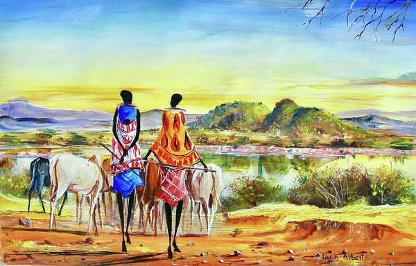 Painting - L 5 by Albert Lizah