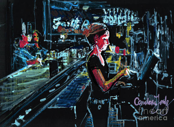 Hilton Head Island Painting - Liz At Frankie Bones by Candace Lovely