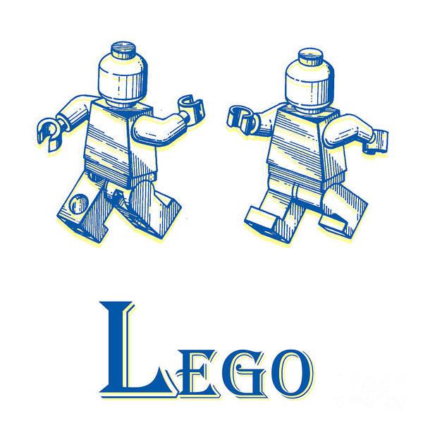 Wall Art - Digital Art - L Is For Lego by Edward Fielding