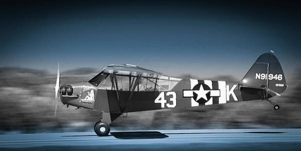 Photograph - L4 Grasshopper On The Take-off Roll by Philip Rispin