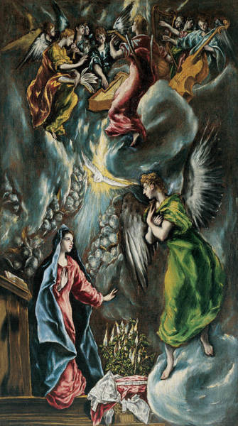 Painting - La Anunciacion by El Greco