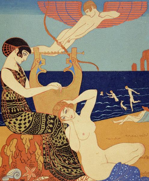 Sunbathing Painting - La Bague Symbolique by Georges Barbier
