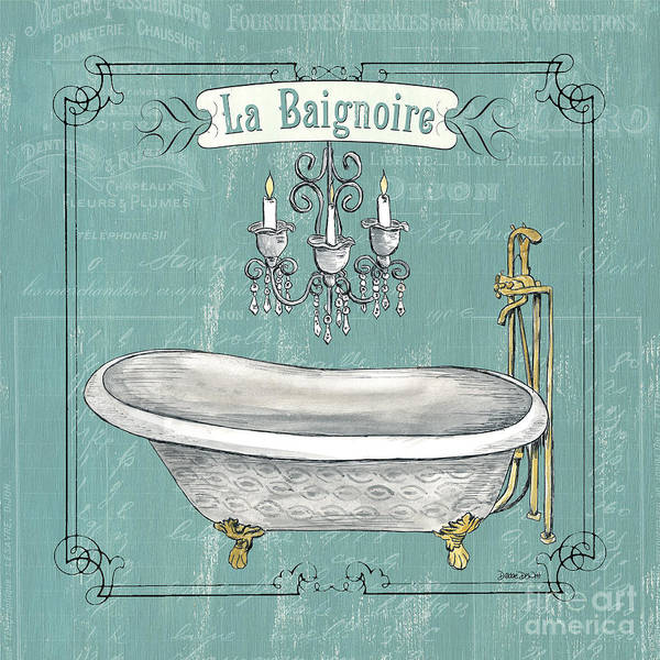 Tub Wall Art - Painting - La Baignoire by Debbie DeWitt