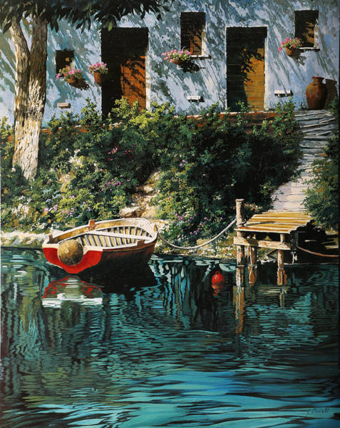Wall Art - Painting - La Barca Al Molo by Guido Borelli