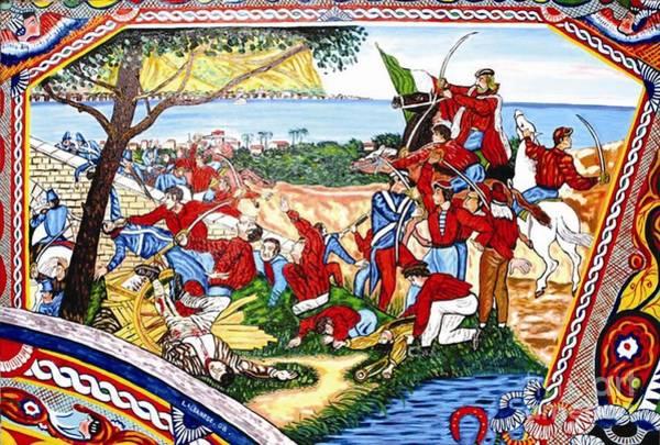 Wall Art - Painting - la battaglia del Ponte dell'Ammiraglio by Leonardo Albanese