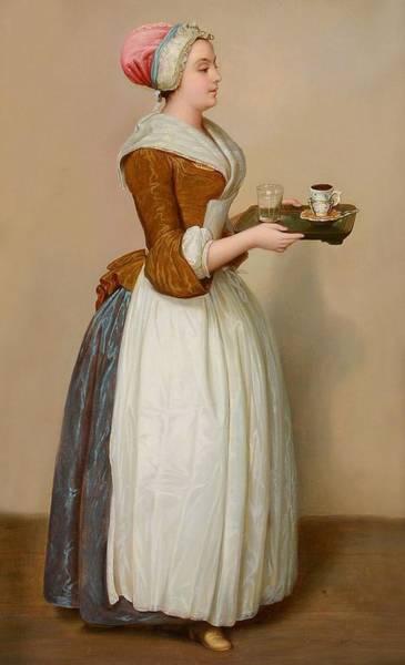 Jean Etienne Liotard Wall Art - Painting - La Belle Chocolatiere by Jean Etienne