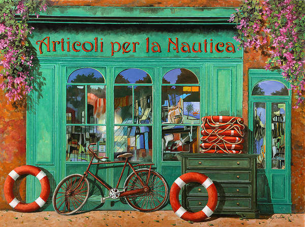 Wall Art - Painting - La Bicicletta Rossa by Guido Borelli